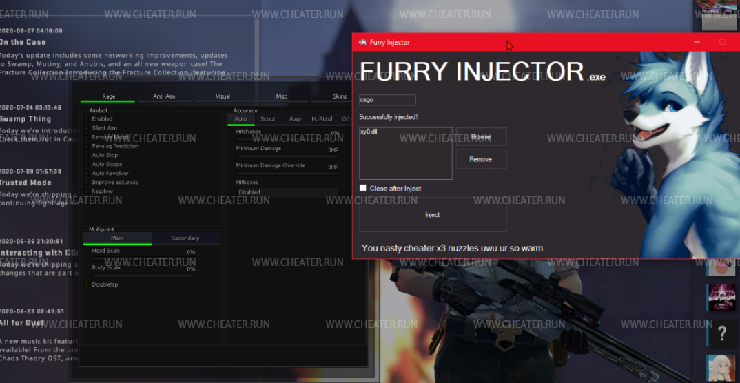 FURRY INJECTOR - Injector works for all games