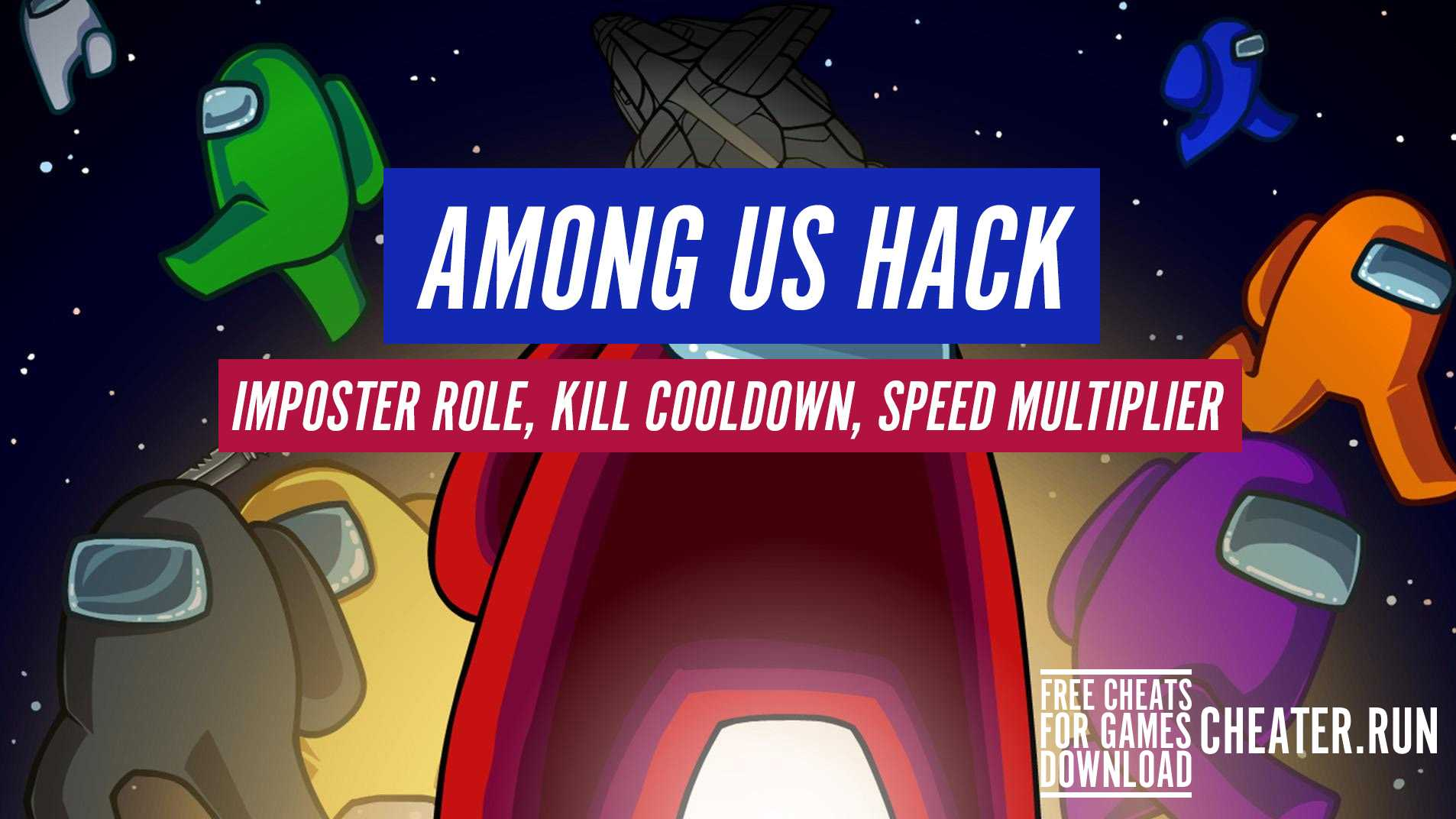 Cheat Free Among Us Hack Imposter Role Kill Cooldown Speed Multiplier